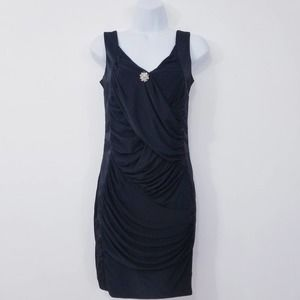 CeMe London Ruched Black Evening Dress